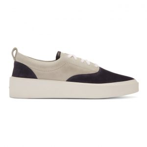 Fear of God Black and Grey Suede Sneakers