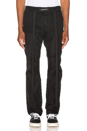 Fear of God Nylon Double Front Work Pant in Black