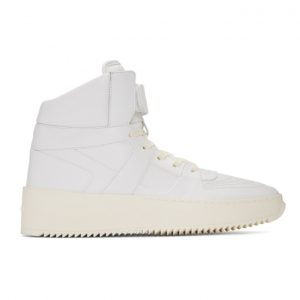 Fear of God White Basketball High-Top Sneakers