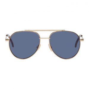 Fendi Gold and Blue FF 0222/S Sunglasses