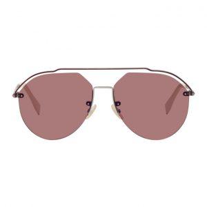 Fendi Gunmetal and Red FF M0031/S Sunglasses