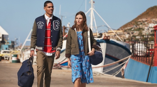 Gant enlists models Geron McKinley and Karlina Caune as the stars of its fall 2019 campaign.