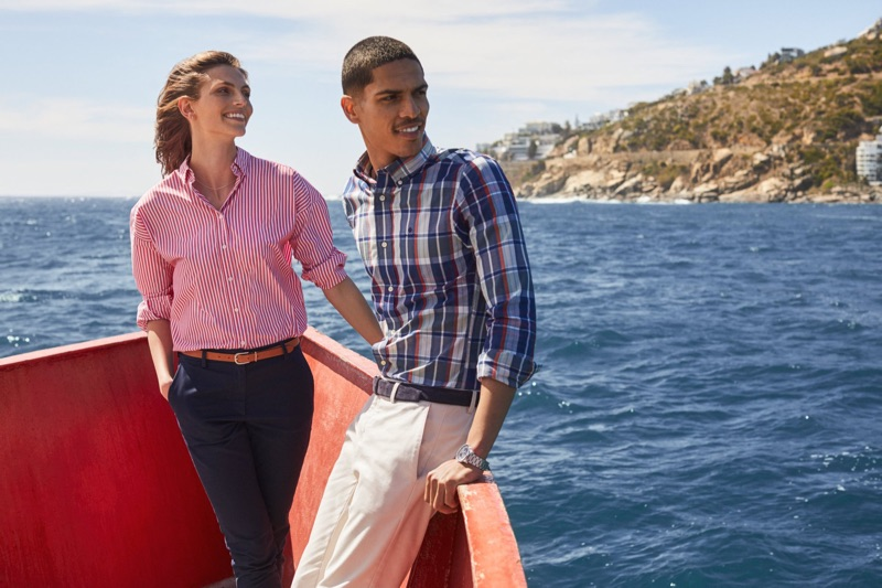 Karlina Caune and Geron McKinley don smart style for Gant's fall 2019 campaign.