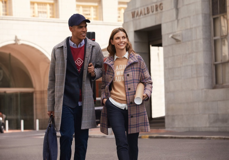 Models Geron McKinley and Karlina Caune star in Gant's fall 2019 campaign.