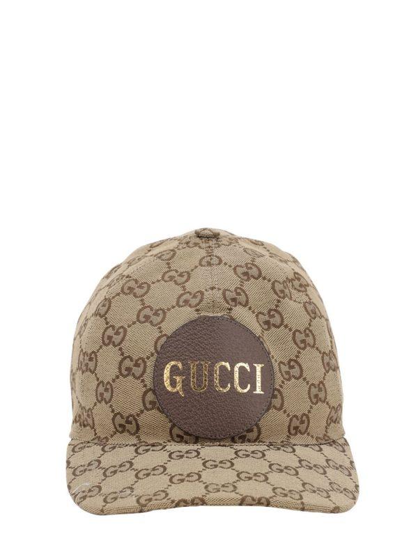 Gg Cotton Canvas Baseball Hat