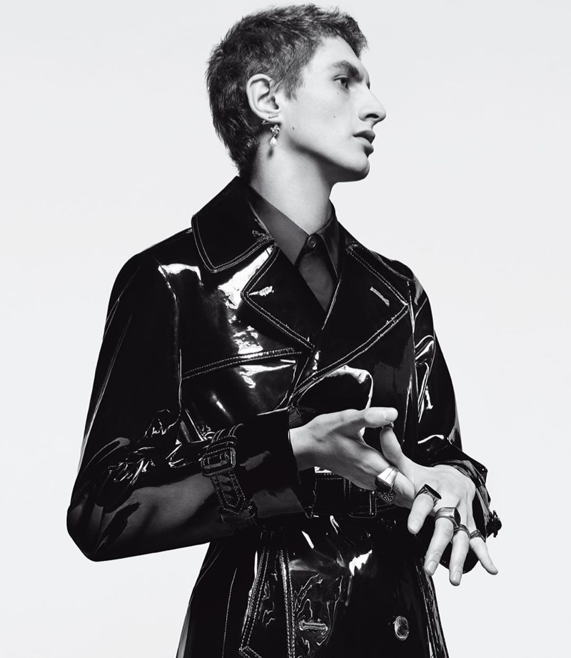 A style standout, Henry Kitcher fronts Givenchy's 2019 'Winter of Eden' campaign.