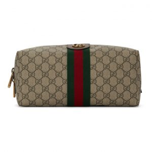 Gucci Biege GG Supreme Ophidia Toiletry Case