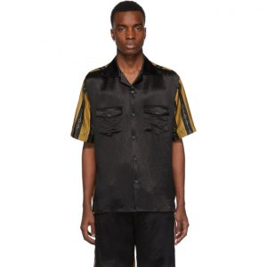 Gucci Black Chain Bowling Shirt