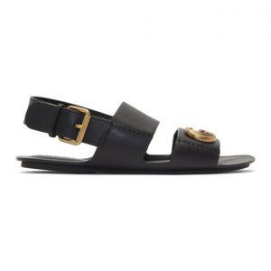 Gucci Black GG Sandals