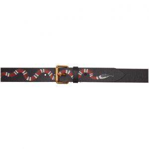 Gucci Black Kingsnake Belt