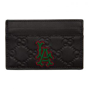 Gucci Black LA Angels Edition GG Card Holder