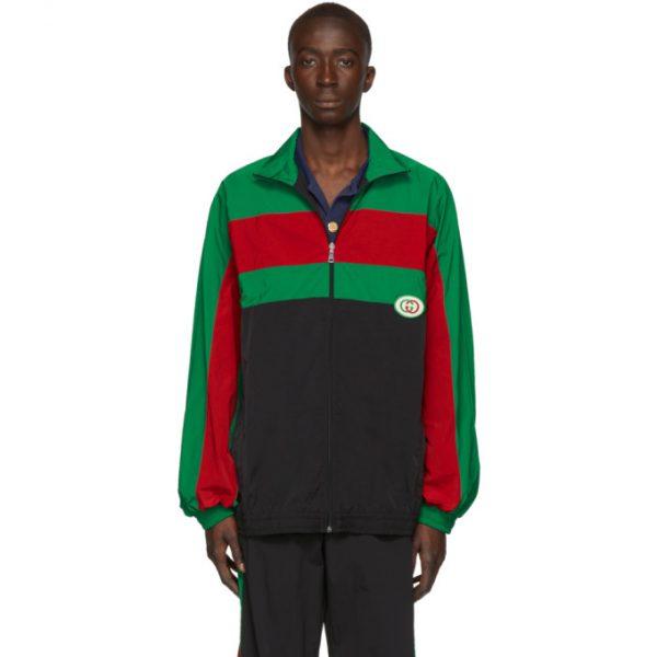 Gucci Black Oversized Waterproof Jacket
