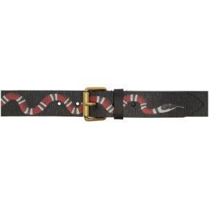 Gucci Black Snake Belt