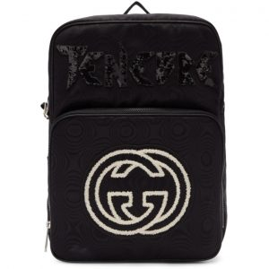 Gucci Black Tenebre Patch Backpack