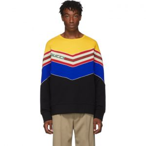 Gucci Black V-Neck Sweatshirt