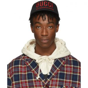 Gucci Black and Red Logo Cap