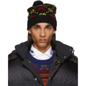 Gucci Black and Yellow Wool Beanie
