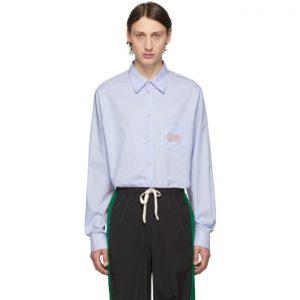 Gucci Blue GG Oxford Shirt
