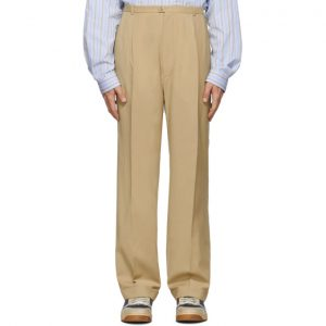 Gucci Brown Lightweight Wool Trousers