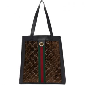 Gucci Brown Velvet GG Tote