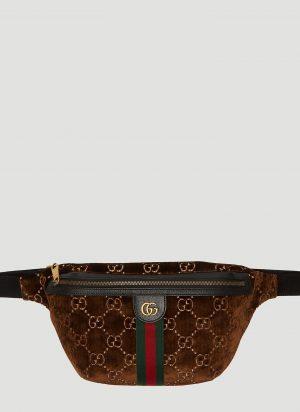 Gucci GG Velvet Belt Bag in Brown size M