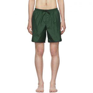 Gucci Green Logo Stripe Swim Shorts