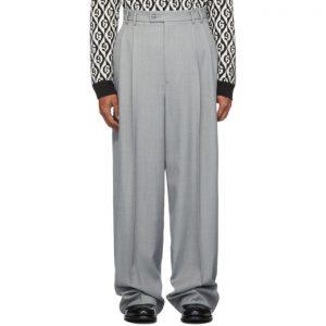 Gucci Grey Vintage Sharkskin Trousers