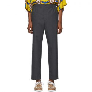 Gucci Grey Wool Trousers