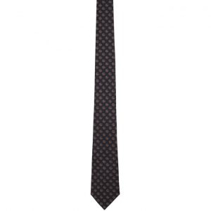 Gucci Navy Silk GG Hearts Tie