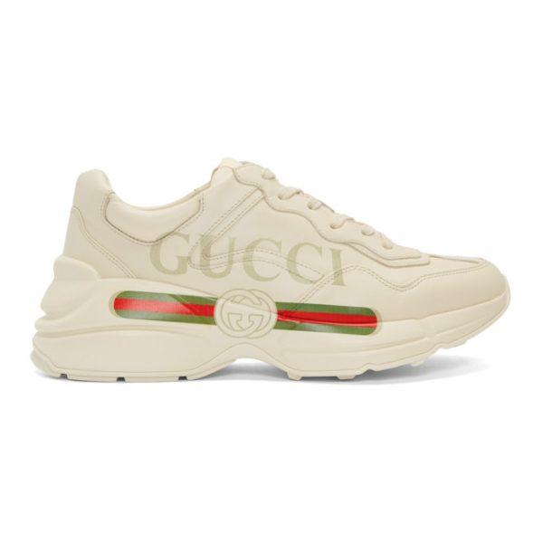 Gucci Off-White Vintage Logo Rhyton Sneakers