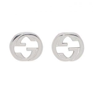 Gucci Silver Interlocking G Earrings
