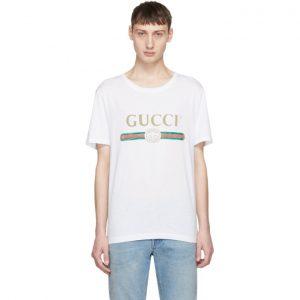 Gucci White Classic Logo T-Shirt