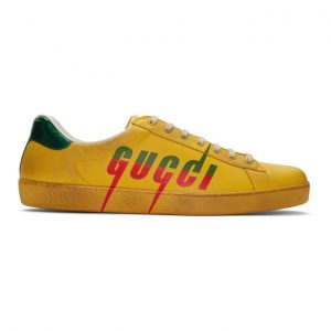 Gucci Yellow Blade New Ace Sneakers