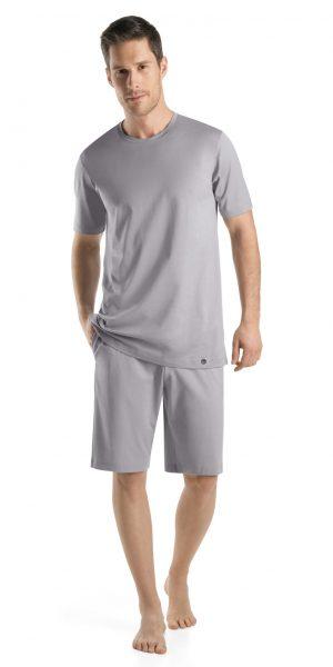 HANRO Night & Day S/SLV Shirt - Mineral XL - 75430