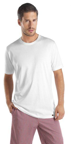 HANRO Night & Day S/SLV Shirt - White L - 75430