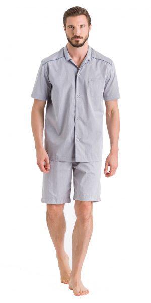 HANRO Sky Short Sleeve Pajama - Minimal Structure XXL - 75673
