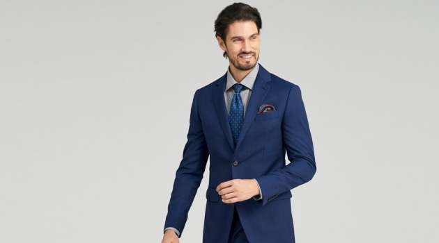 Indochino Hartford Fineline Blue Suit