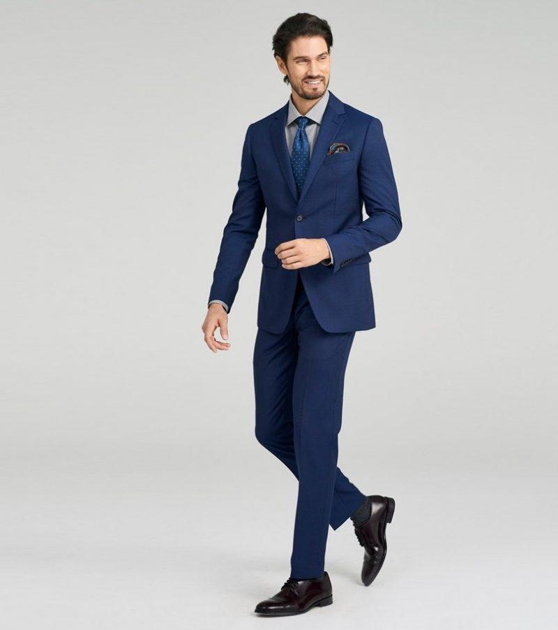 Indochino Hartford Fineline Blue Suit
