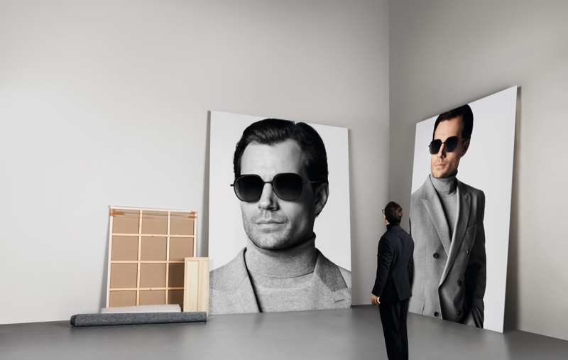 German brand BOSS partners with Henry Cavill for its fall-winter 2019 eyewear campaign.