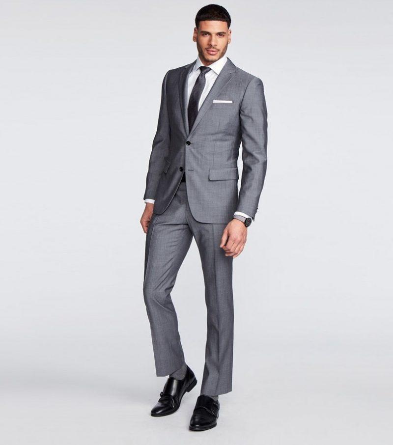 Indochino Hamilton Sharkskin Gray Suit