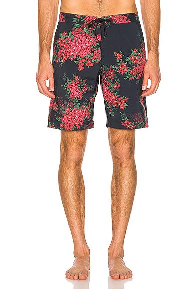 JOHN ELLIOTT Boardshorts in Blue,Floral,Pink