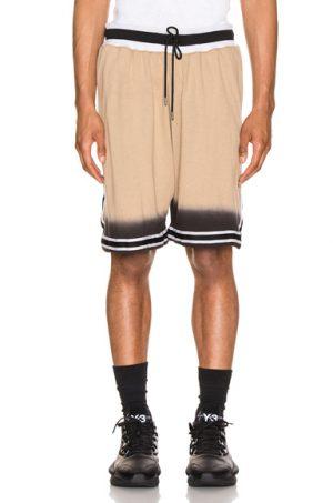 JOHN ELLIOTT Dip Dye Basketball Shorts in Neutral