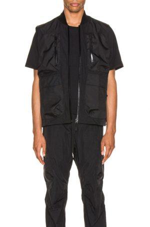 JOHN ELLIOTT Nylon Utility Vest in Black
