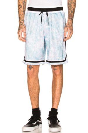 JOHN ELLIOTT Tie Dye Basketball Shorts in Blue,Ombre & Tie Dye