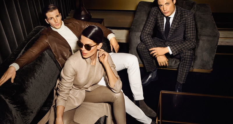 JOOP! enlists Edward Wilding, Raica Oliviera, and Steven Chevrin as the stars of its fall-winter 2019 campaign.