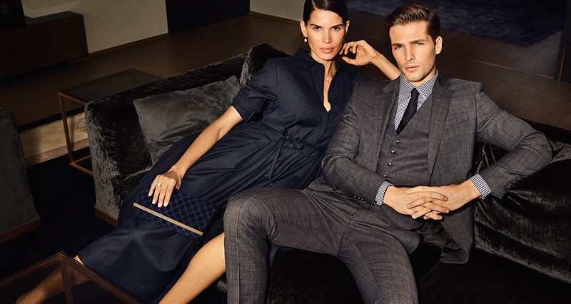 Raica Oliviera and Edward Wilding couple up for JOOP!'s fall-winter 2019 campaign.