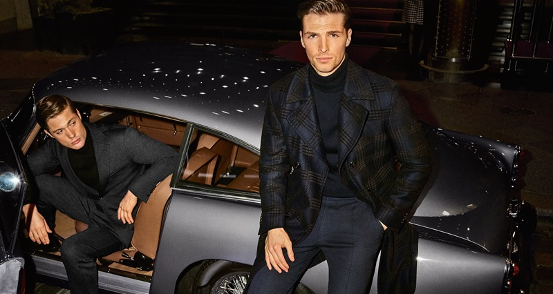 Sporting sleek styles, Steven Chevrin and Edward Wilding front JOOP!'s fall-winter 2019 campaign.