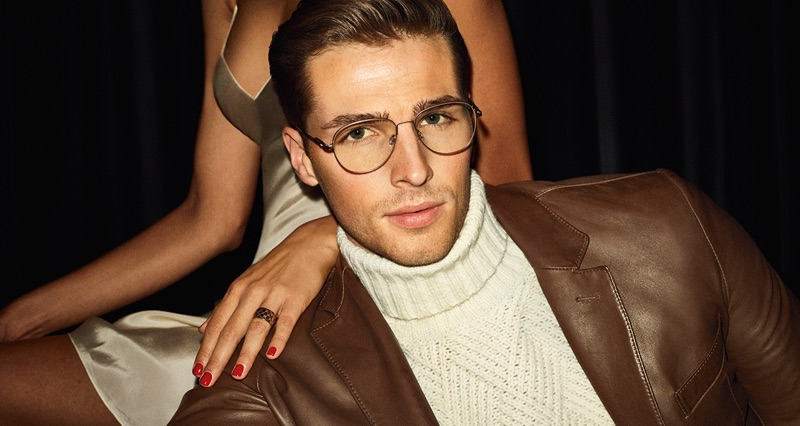 Donning glasses, Edward Wilding reunites with JOOP! for its fall-winter 2019 campaign.