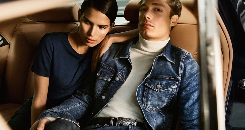 Fronting JOOP! Jeans' fall-winter 2019 campaign, models Raica Oliviera and Steven Chevrin pose for a picture.