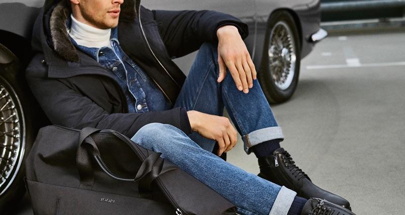 British model Edward Wilding stars in JOOP! Jeans' fall-winter 2019 campaign.